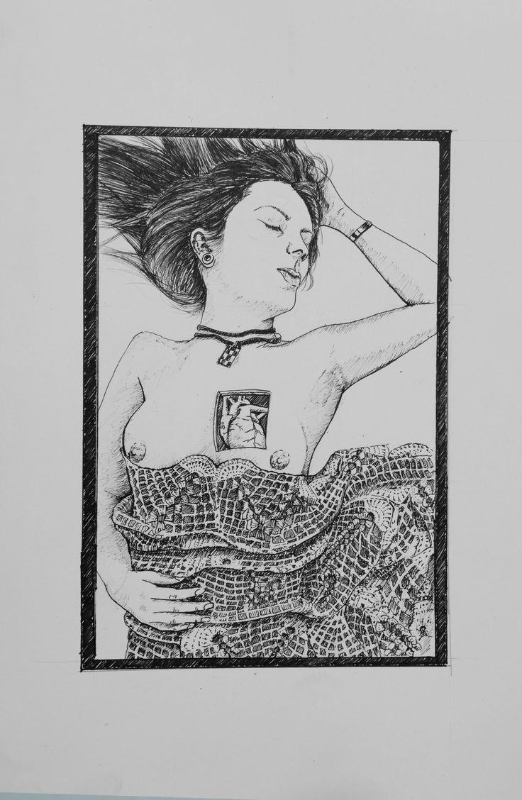 Para libro de poesía. tinta sobre papel. Por: Fabian Machado.