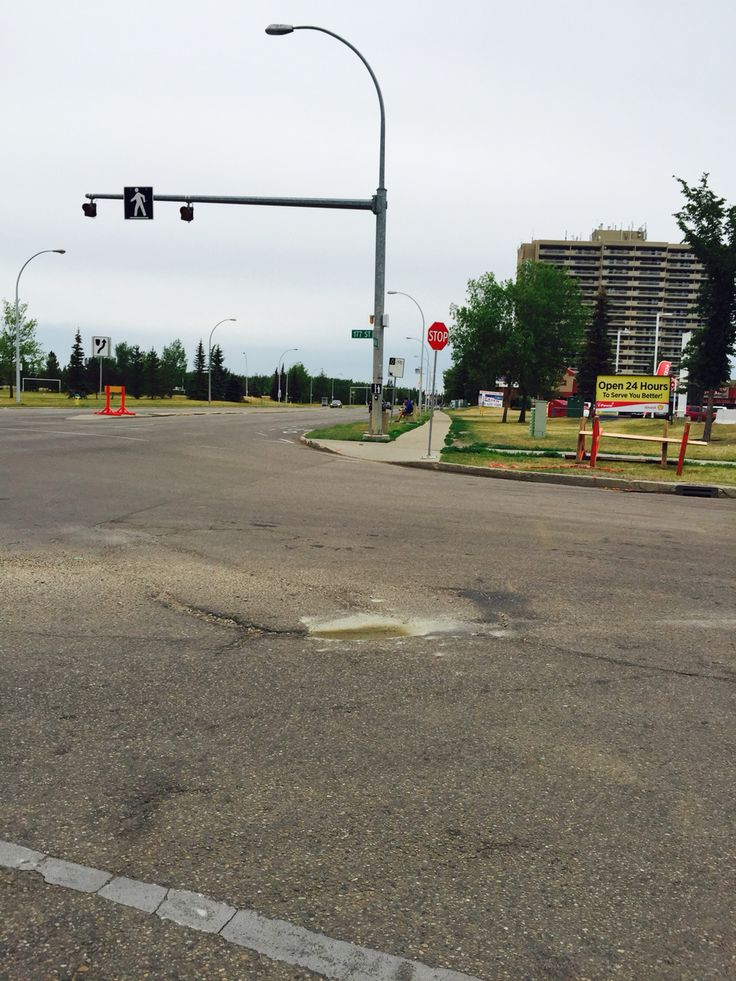 They fixed the road on 69th avenue and 187 Street but, the crosswalk was forgotten.