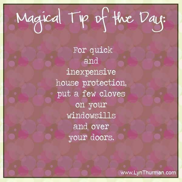 For quick and inexpensive house protection, put a few cloves on your windowsills and over your doors.