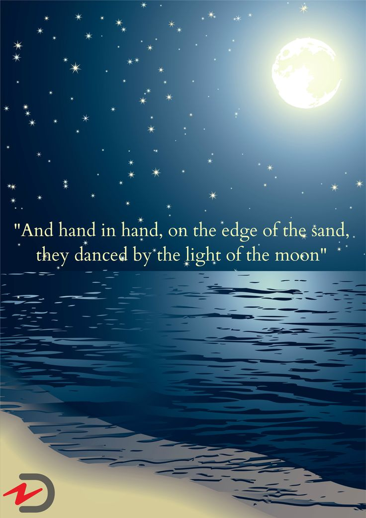 """And hand in hand, on the edge of the sand, they danced by the light of the moon."" #qotd #quoteoftheday #quote"