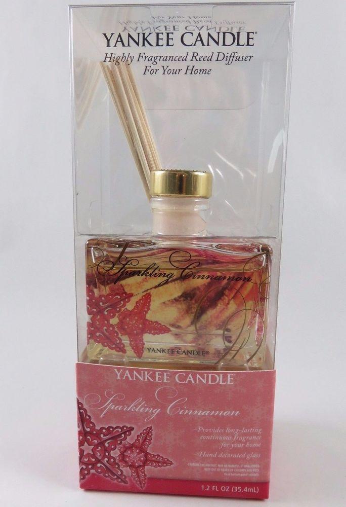 Yankee Candle Sparkling Cinnamon 1.2 oz Scented Oil Reed Diffuser Starfish NIB #YankeeCandle