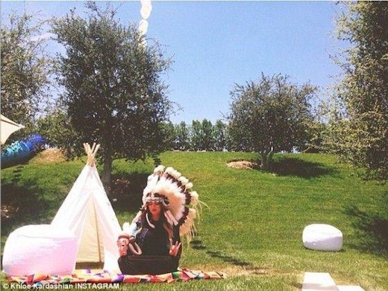 Khloe Kardashian at North West first birthday Kidchella
