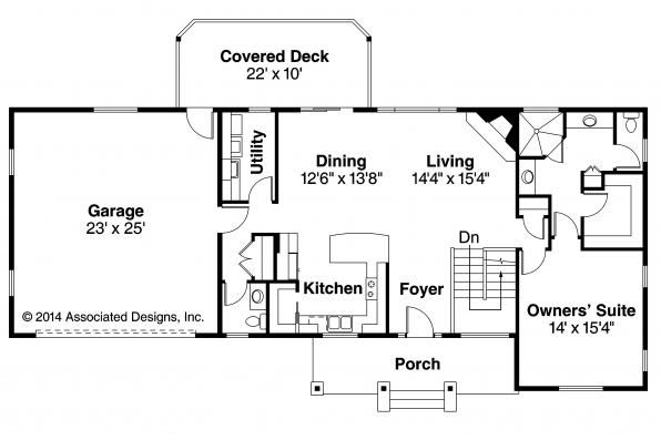 Ranch house plan w daylight basement gatsby 30 664 by for Daylight basement house plans designs