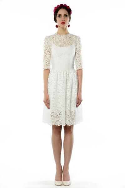 Olivia - koronkowa sukienka ślubna/koktajlowa