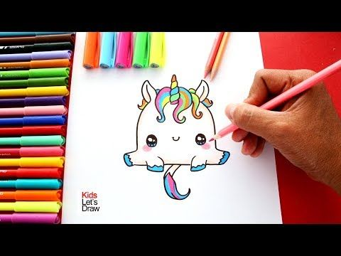 Cómo Dibujar Un Unicornio Super Kawaii De Manera Fácil Como Dibujar Un Unicornio Tarjetas De Unicornio Cómo Dibujar