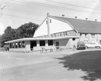 Construction of Whitby Community Arena Addition, 1956