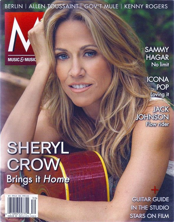 Sheryl Crow Music & Musicians magazine (Nov-Dec 2013)
