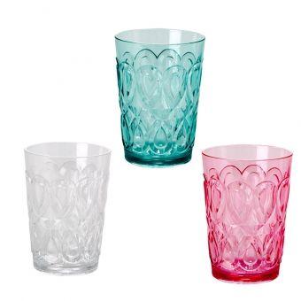 Rice Acryl Wasserglas Swirly
