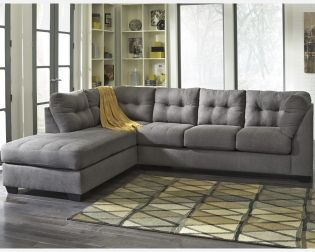 Tufted Sofa Maier Charcoal Sectional Midwest Clearance Center