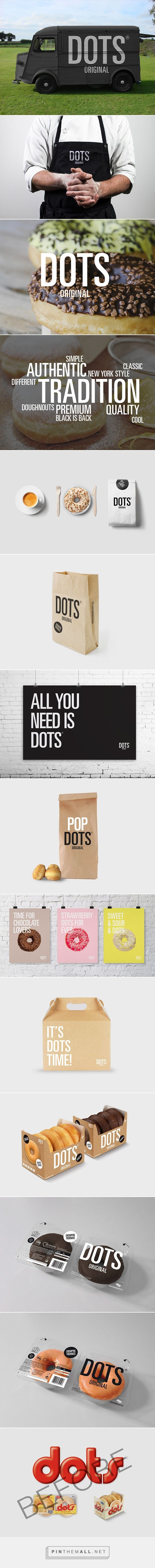 New visual #identity for Dots, Spain´s top selling doughnuts and bakery #brand