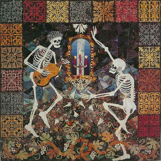 87 Best Dia De Los Muertos Quilts Images On Pinterest