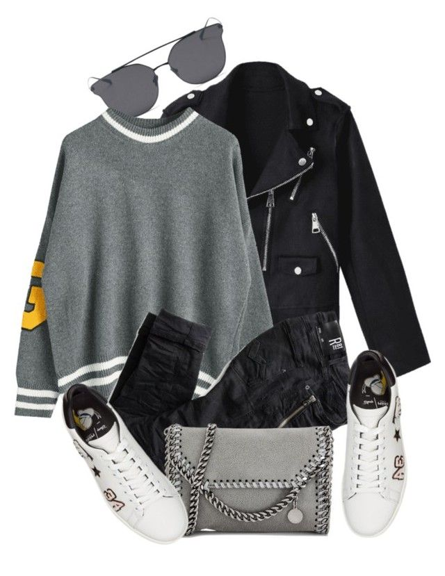 """""""12:29"""" by monmondefou ❤ liked on Polyvore featuring LMNT, STELLA McCARTNEY and black"""