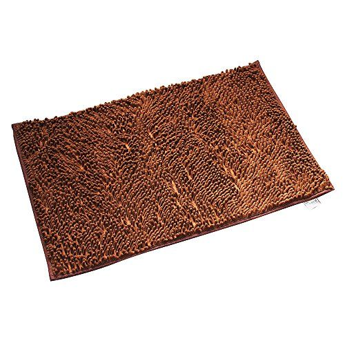 Ealek Super Soft Bath Mat Microfiber Shag Bathroom Rugs Non Slip Absorbent Fast Drying Machine Washable Carpet Mats Shower 19 X 30 I