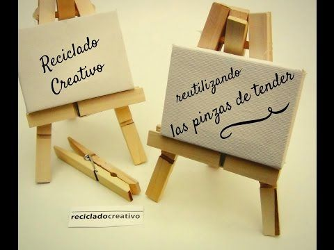 A Mini Easel From Clothespins • Recyclart