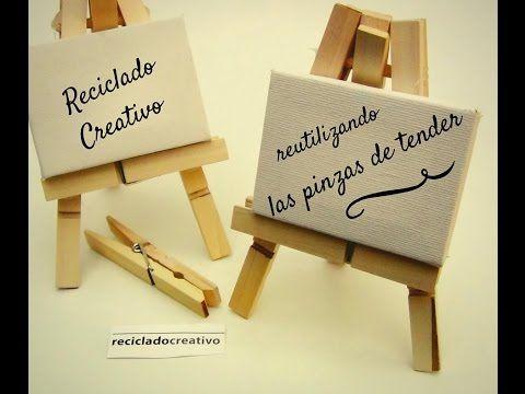 Cómo hacer caballetes en miniatura con pinzas de madera | Manualidades