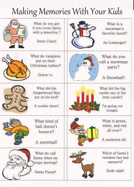 Christmas Lunch Box Jokes Notes {Free Printable} - Making Memories With Your Kids