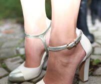 Brautschuhe Vintage Fersengold High Heels