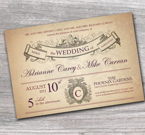 Ornate Rustic French Wedding  http://www.etsy.com/listing/80821637/ornate-wedding-invitation-with-rustic
