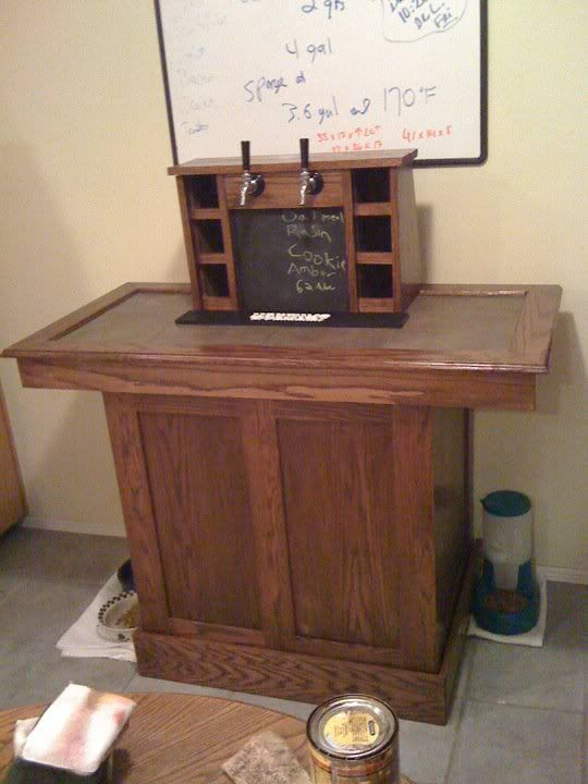 Coffin keezer list home brew forums brewing for Home bar with kegerator space