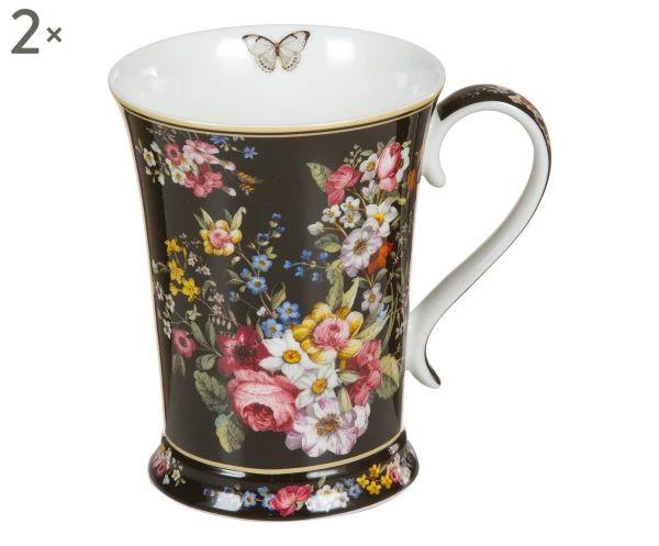 Set di 2 tazze in porcellana Bloom, 270 ml