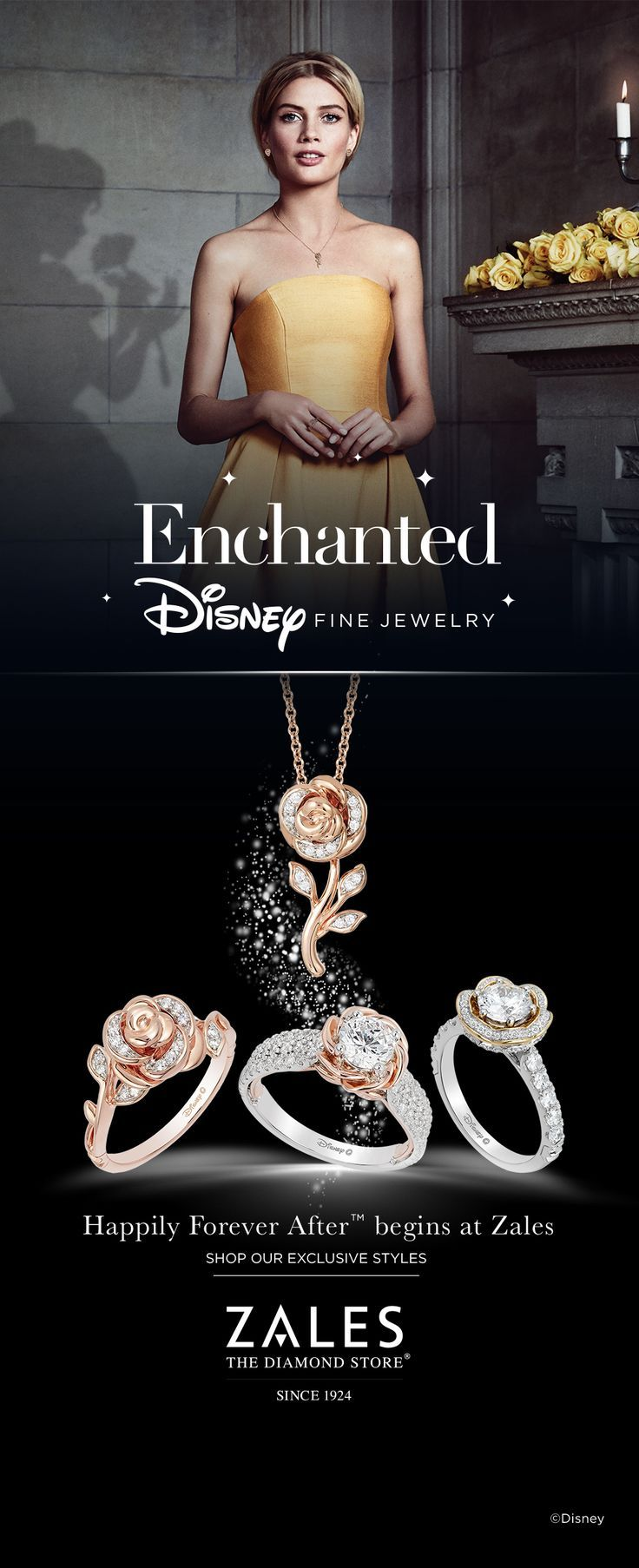 If You Believe In Romance Dreams And Happily Forever After You Will Fall In Love With Enchan Disney Fine Jewelry Disney Jewelry Enchanted Disney Fine Jewelry