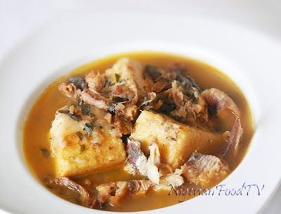 Nigerian Food Recipes TV| Nigerian Food blog, Nigerian Cuisine, Nigerian Food TV, African Food Blog: Ji Mmiri Oku (Yam and Dried Fish Pepper Soup Porridge)
