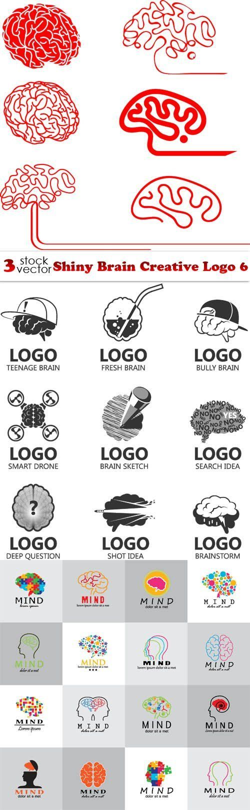 Vectors Shiny Brain Creative Logo 6 Cartao de visita