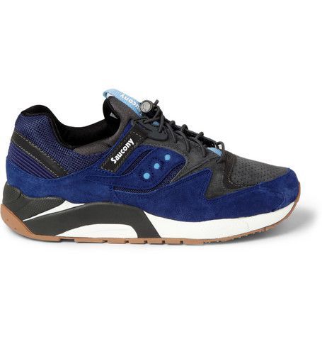 Saucony Grid 9000 Leather and Mesh Sneakers    | MR PORTER