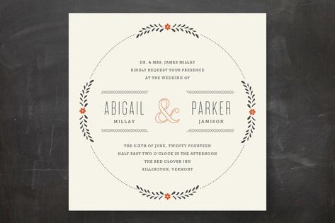 country inn wedding invitations
