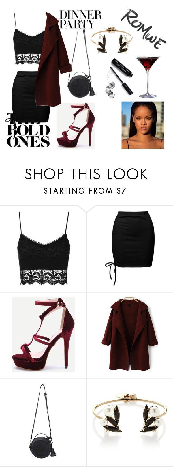 """Romwe"" by delicmevla ❤ liked on Polyvore featuring Sans Souci, Anton Heunis and Bobbi Brown Cosmetics"