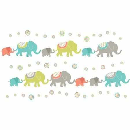 Tag Along Elephants Kit|Fab Style Kids Rooms http://fabstylekidsrooms.com/Art-and-Decor/Baby-Decor/Baby-Wall-Decals/Tag-Along-Elephants-Kit #walldecal #elephants
