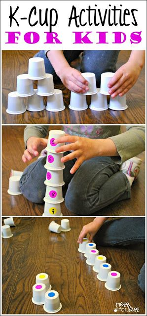 Fun kids activities to reuse k cups to play and learn (toddle,r preschool, kindergarten)