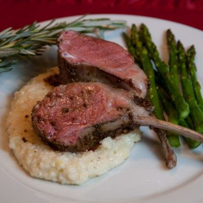 Sous Vide Rack of Lamb with Mustard Sauce