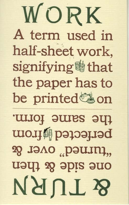"""""""Exotic and Unusual Printing Terms"""" printed two or more decades ago at Bowne & Co., Stationers"""