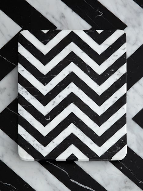 British designer Bethan Gray will present her first tableware collection, a set of black and white geometric marble pieces, in Milan next month.