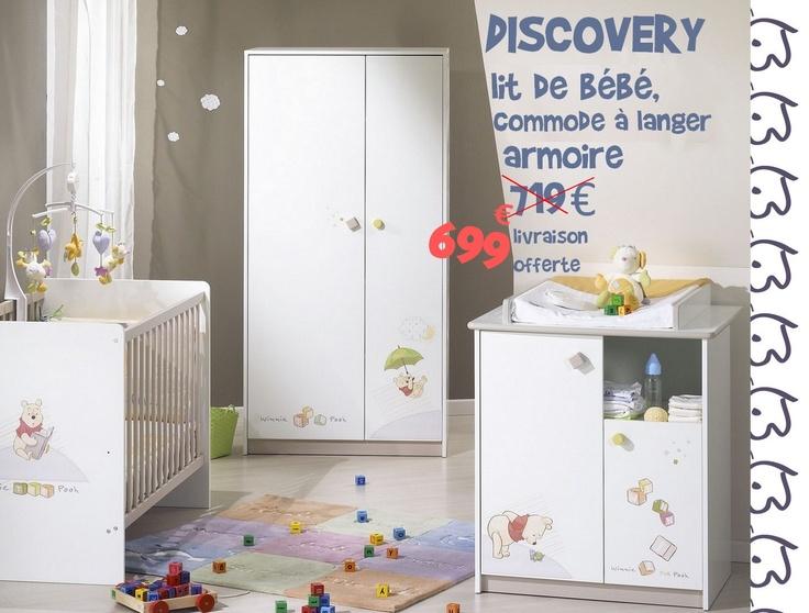 Chambre de bébé vente mobilier lit tour de lit pour bébé sauthon et