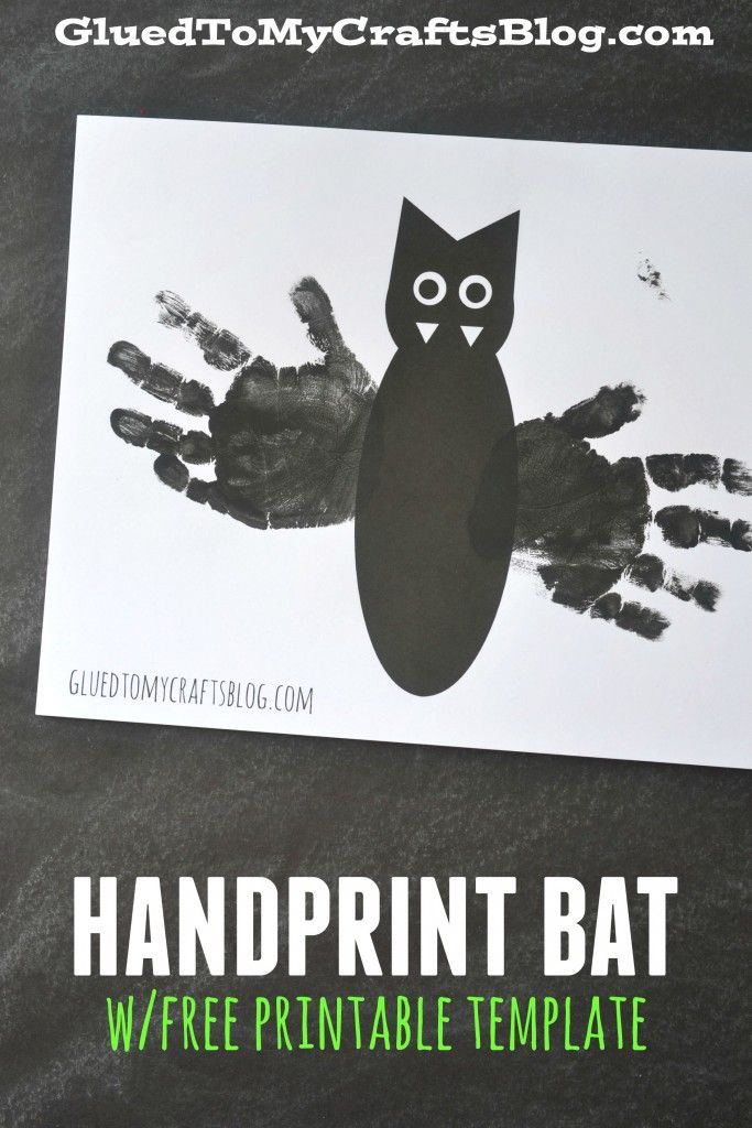 Handprint Bat w/free printable template