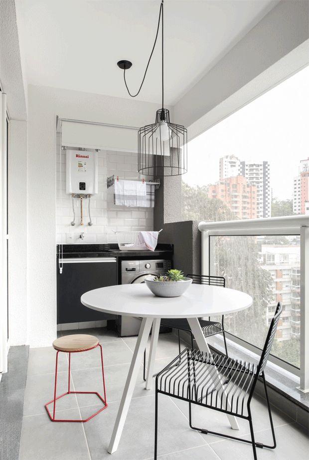 Cinza e branco levam ar moderninho para loft de 39 m² (Foto: Escanhuela)