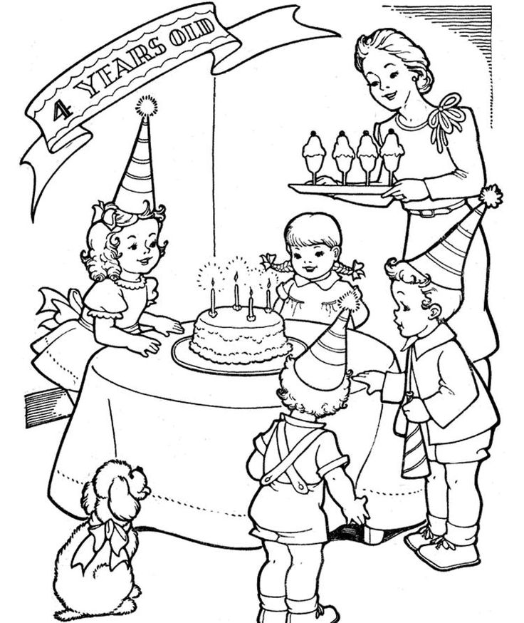 Free Birthday Coloring Pages For Children | Birthday ...