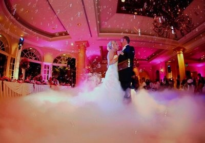 Dancing on a cloud for the first dance