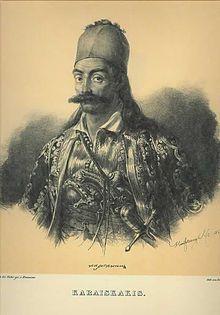 Georgios Karaiskakis; lithography by Karl Krazeisen.