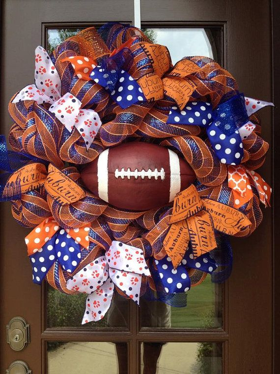 Auburn football wreath Auburn University by AllGlitterandbows, $105.00