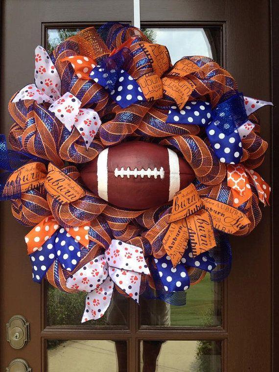 Auburn football wreath Auburn University by AllGlitterandbows, $105.00