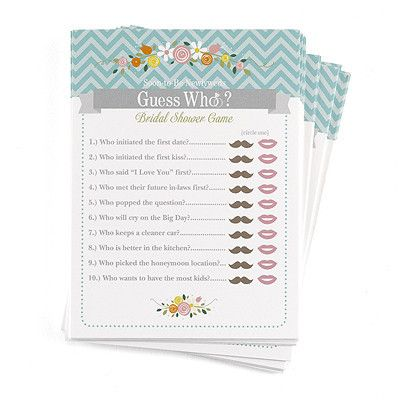 Guess Who Newly Wed Game - Marry Me Wedding Accessories & Gifts