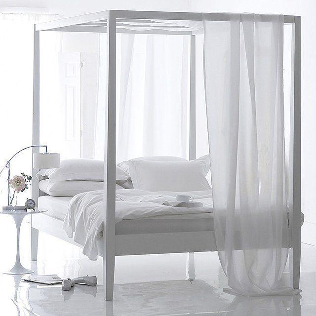 Boho Blanc 4 Poster Bed