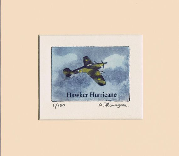 Hawker Hurricane  Original Limited Edition by AidanFlanaganArt, €30.00