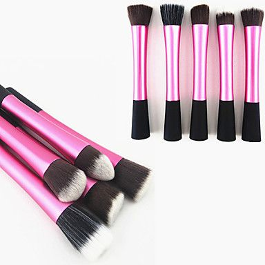 [CyberWeekSale]1PCS Rose Nylon cabelo Aluminium Handle Maquiagem Blush / Fundação / pó Escova (Random Tipo, 17x3x2cm) – BRL R$ 8,73