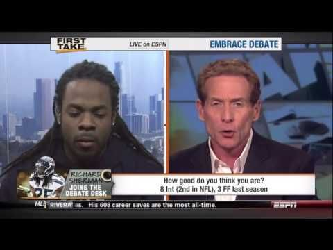 """I'm tired of your ignorant pollution."" - Richard Sherman| Richard Sherman destroys Skip Bayless on ESPN First Take"