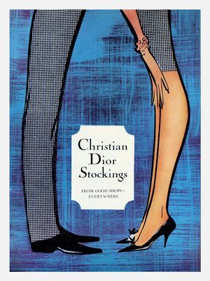 #VintageStocking Una pubblicità vintage di René Gruau per le calze Christian Dior. #vintage #christiandior #Stockings