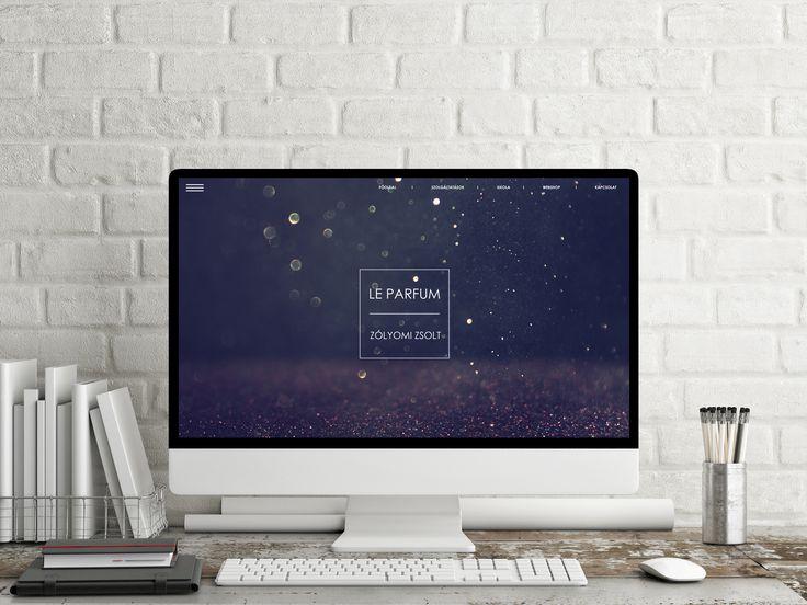 parfume webpage design UI glitter